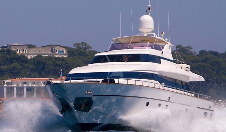 Mega yacht boat rental in Cannes, France