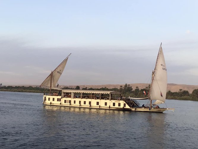 Classic boat for rent in Luxor
