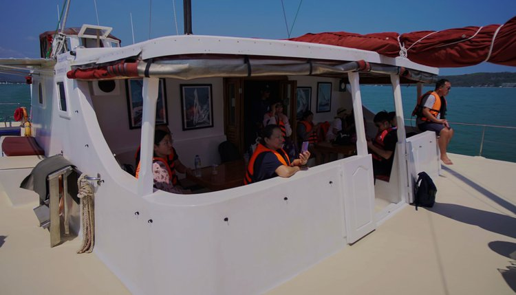 Boating is fun with a Catamaran in Chalong Bay