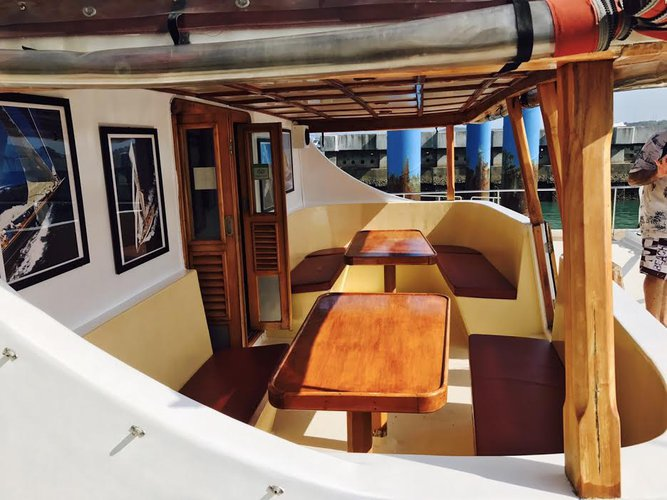 Catamaran boat for rent in Chalong Bay