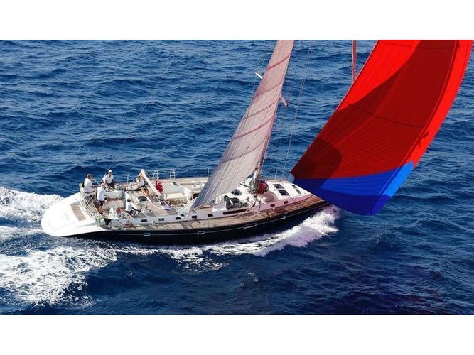 Enjoy luxury and comfort on this Cannigione sailboat charter