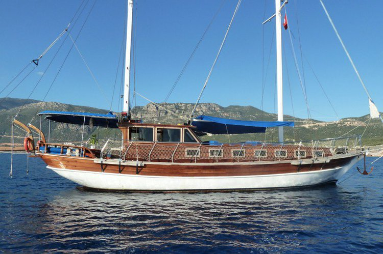 Climb aboard this beautiful gulet to explore Turkey