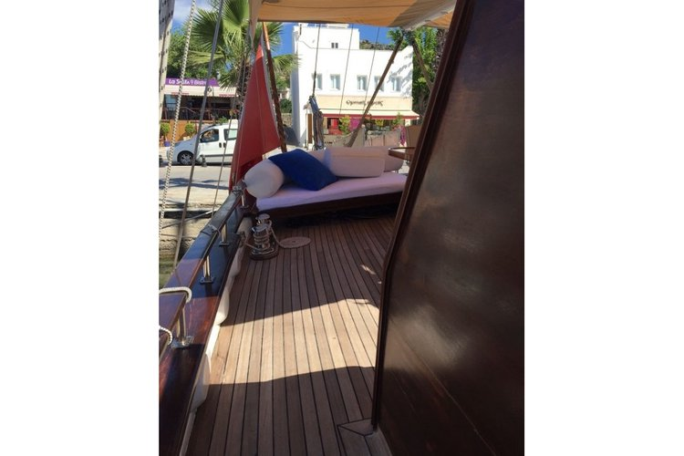 Gulet boat rental in Bodrum Marina, Turkey