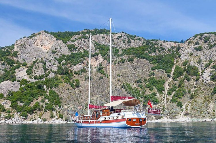 Take this 69 ft gulet to explore the beautiful Turkish coast
