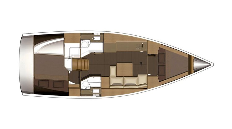Discover Sea Cow's Bay surroundings on this 382 Grand Large Dufour boat