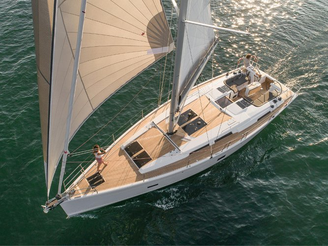 Enjoy luxury and comfort on this Hanse Yachts Hanse 458 in Göcek