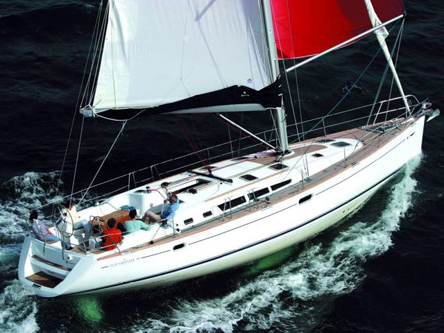 Experience Kavala on board this elegant sailboat