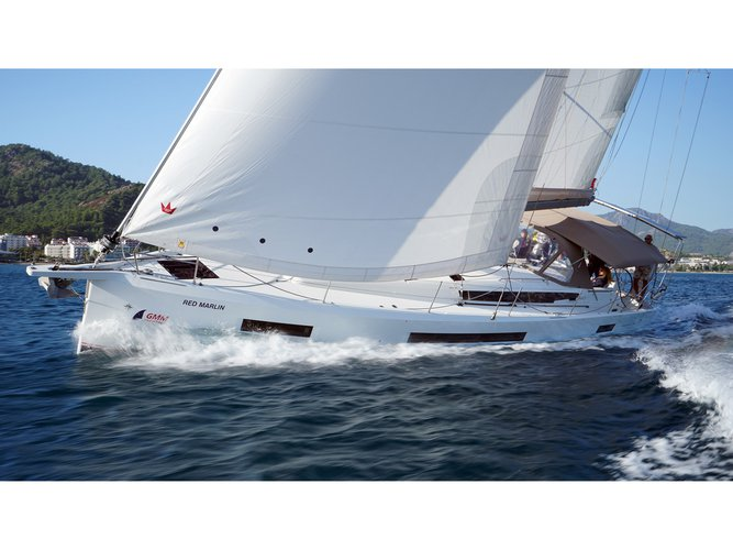 Enjoy luxury and comfort on this Jeanneau Sun Odyssey 490 in