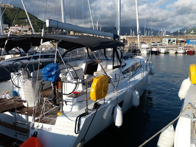 Hop aboard this amazing sailboat rental in Salerno!