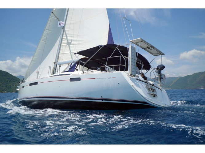 Climb aboard this Jeanneau Jeanneau 57 for an unforgettable experience