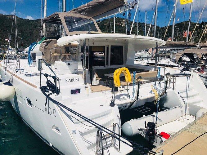 Charter this amazing Lagoon 400 boat in Tortola