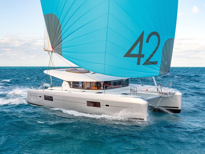 Sail the beautiful waters of Palma de Mallorca on this cozy Lagoon Lagoon 42