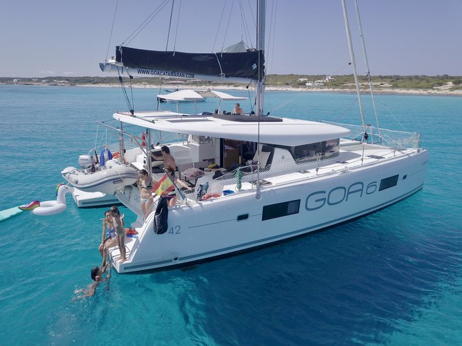 Sail the beautiful waters of Ibiza - Sant Antoni de Portmany on this cozy Lagoon Lagoon 42