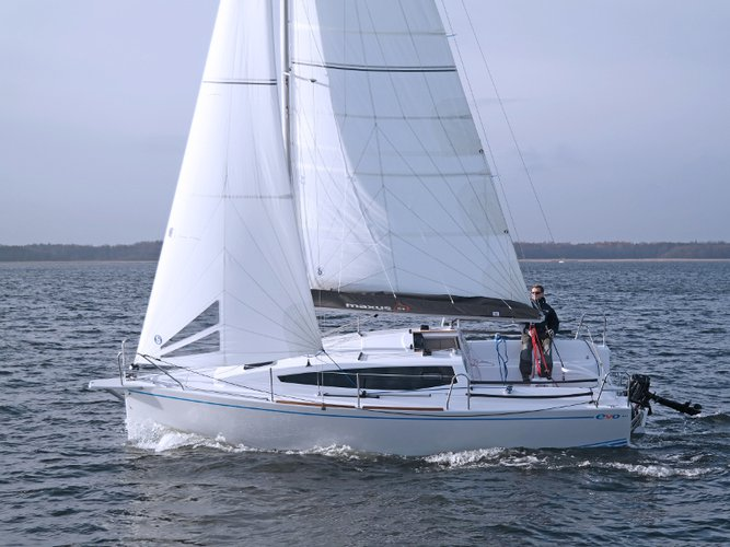 Explore Wilkasy on this beautiful sailboat for rent