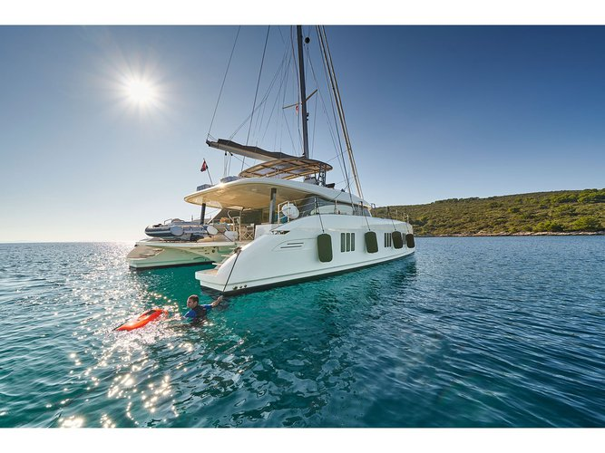 Experience Kaštel Gomilica, HR on board this amazing Sunreef Yachts Sunreef 60
