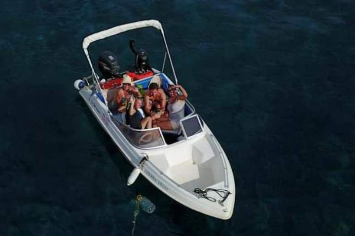 Boating is fun with a Motor boat in Santorini - Vlichada