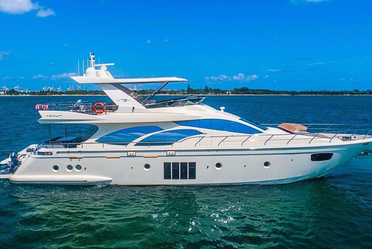 Motor yacht boat rental in MBM - Miami Beach Marina,