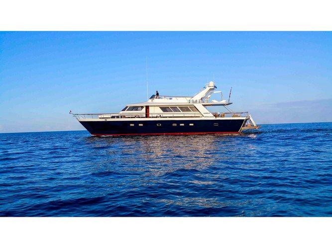 Beautiful Cantieri Di Pisa, Italy Pegasus 80 ideal for cruising and fun in the sun!