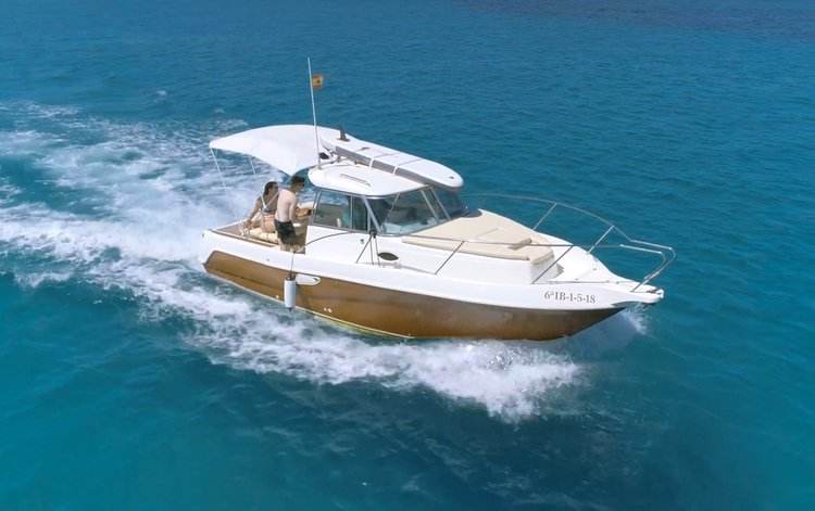 Faeton Moraga 780 motor boat for RENT in Ibiza island, Spain