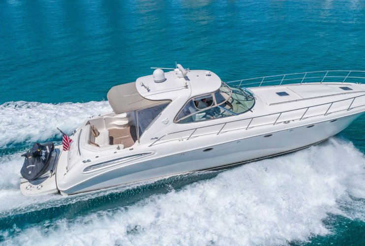 This 57.8' Sea Ray cand take up to 8 passengers around North Bay Village