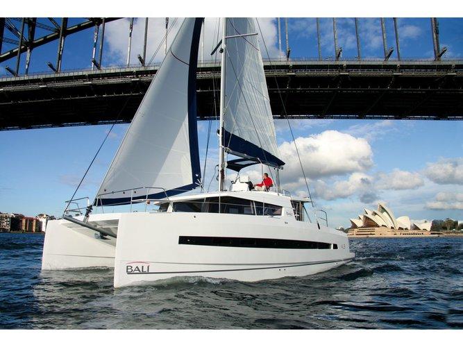 Rent this Bali Catamarans Bali 4.3 Salerno for a true nautical adventure