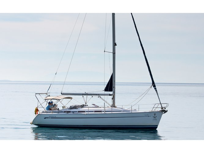 Sail the beautiful waters of Patras on this cozy Bavaria Yachtbau Bavaria 36