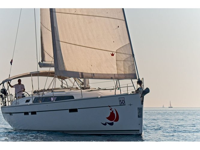 Experience Murter on board this elegant sailboat