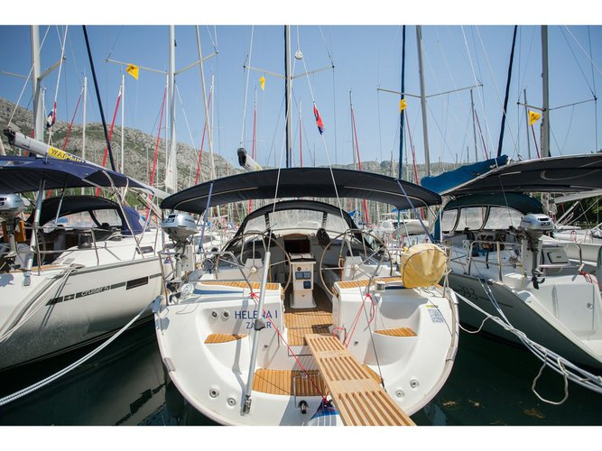 Enjoy luxury and comfort on this Seget Donji sailboat charter