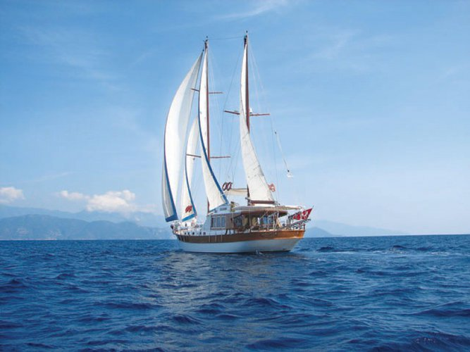 Charter this amazing sail boat in Bodrum