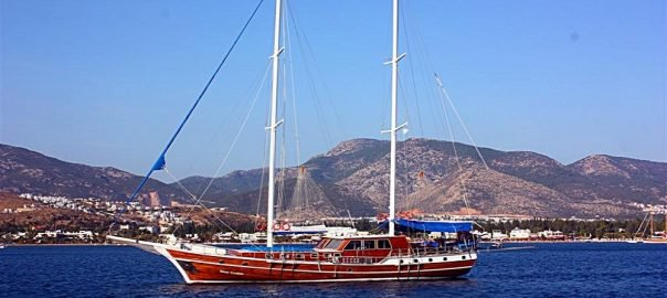 Hop aboard this luxurious sail boat rental in Turkey