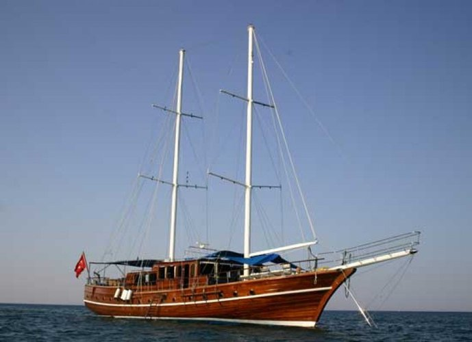 Step aboard this sail boat rental and set sail to your next adventure in Turkey