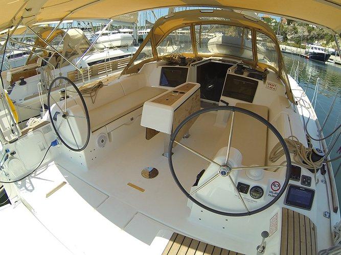 Discover Šibenik region surroundings on this Dufour 382 GL Dufour Yachts boat