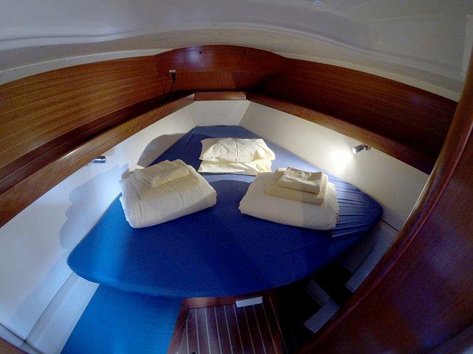 Discover Šibenik region surroundings on this Dufour 385 GL Dufour Yachts boat