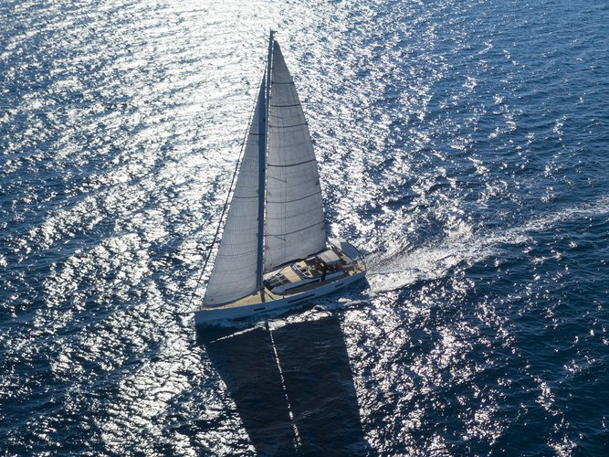 Sail Mykonos, GR waters on a beautiful Dufour Yachts Dufour 63 Exclusive