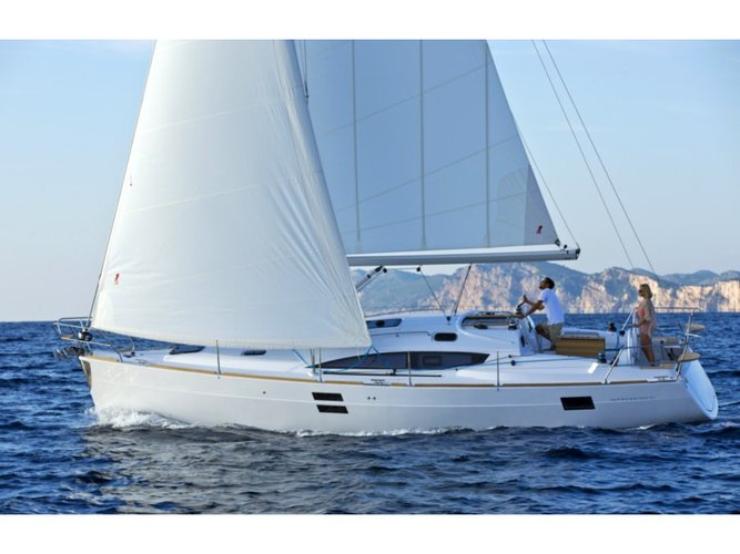 Hop aboard this amazing sailboat rental in Biograd!