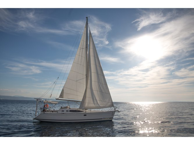 Sail Patras, GR waters on a beautiful Feeling Feeling Kirie 39