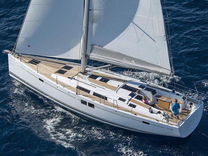 Discover Šibenik region surroundings on this Hanse 505 Hanse Yachts boat