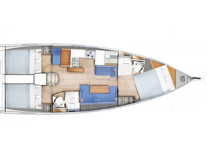 Climb aboard this Jeanneau Sun Odyssey 410 for an unforgettable experience