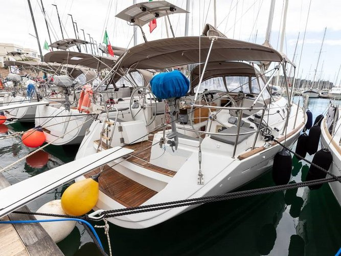 Sail Piombino, IT waters on a beautiful Jeanneau Sun Odyssey 44 i