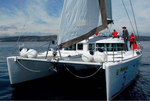 Catamaran boat rental in Port of Lefkada, Greece