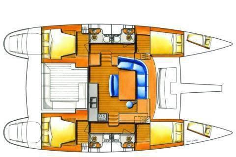LAGOON's 44.0 feet in Lefkada