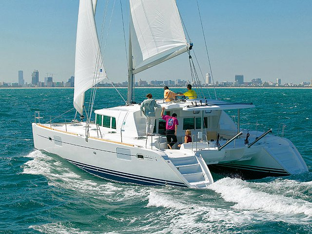 Sail the beautiful waters of  on this cozy Lagoon Lagoon 440