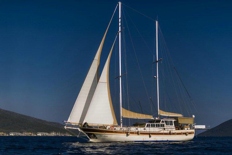 Discover Alimos surroundings on this Custom Gulet Wodden boat