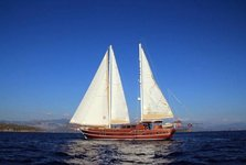 Hop aboard this amazing sail boat rental in Bodrum