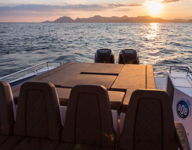 Discover Chania, Crete surroundings on this 37TT Axopar boat