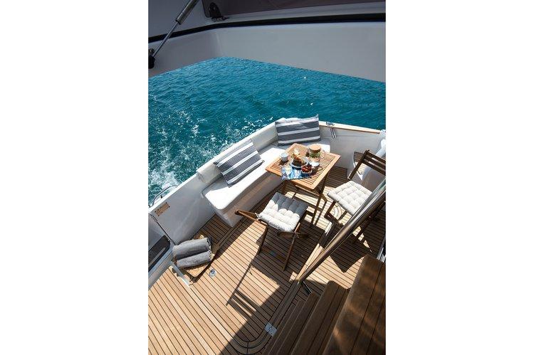 Flybridge boat rental in ACI Marina Rovinj, Croatia
