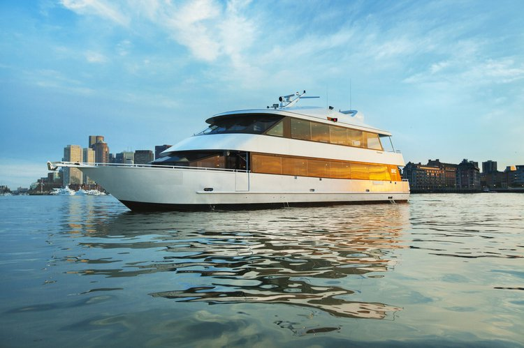 Cruise Cleveland onboard this beautiful & luxurious party yacht