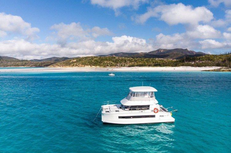 Set sail in Australia onboard this amazing 37 ft motor catamaran