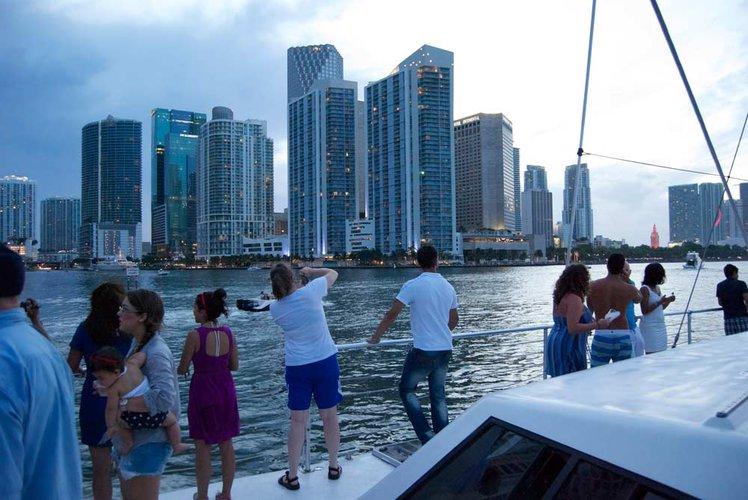 Catamaran boat rental in Bayside Marina, Miami, FL