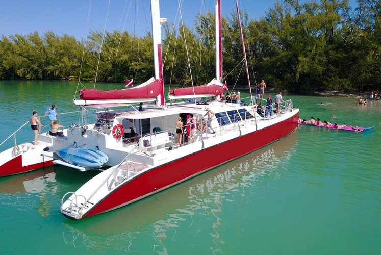 Up to 125 persons can enjoy a ride on this Catamaran boat